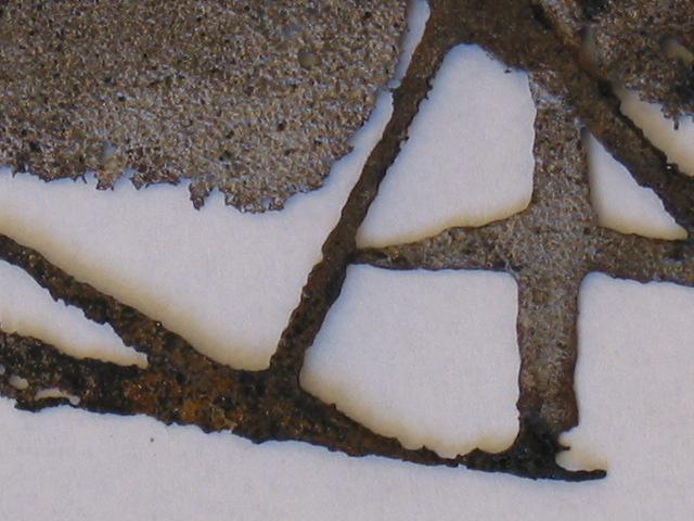 Etsning stålplåt skulptur, järn, yta, struktur